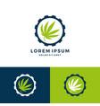 cannabis gear mechanic logo download vector image vector image