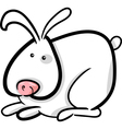 cartoon of white bunny vector image