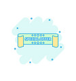 cartoon special offer ribbon icon in comic style vector image vector image