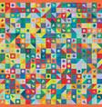 childlike stylized funky rainbow shape tile swatch vector image