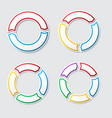 circle charts with shadow vector image vector image