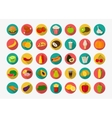 Color food icons set Fruits and Vegetables icons vector image vector image