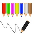 colored pencils vector image vector image