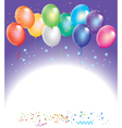 colorful balloons with confetti vector image
