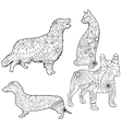 Coloring set pets vector image