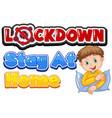 coronavirus poster design for word lockdown vector image vector image