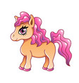 cute cartoon pony isolated on white vector image vector image