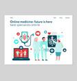 digital medicine web banner vector image vector image