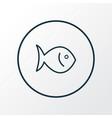 fish icon line symbol premium quality isolated vector image vector image