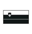 Flag of Slovenia monochrome on white background vector image vector image