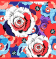 floral bright pattern roses and other flowers vector image