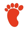 foot print silhouette icon vector image