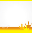 greeting for celebrate diwali concept vector image vector image