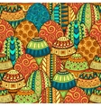 Hand-drawn doodle Easter seamless pattern vector image vector image