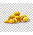 icons coins for game interface vector image vector image