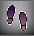 imprint soles shoes sign violet gradient vector image vector image