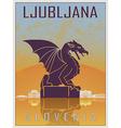Ljubljana Vintage Poster vector image vector image