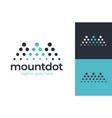 logo letter m mountain investment landscape vector image