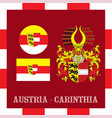 national ensigns of carinthia - austria vector image vector image