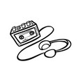 old cassette player vector image