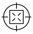 Old sniper aim icon simple style
