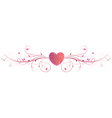 pink heart floral vector image vector image