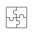 puzzle line icon sign on vector image vector image