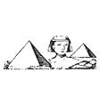 pyramids and sphinx of giza limestone statue vector image vector image