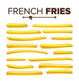 realistic french fries set classic vector image vector image