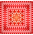 Red ornate shawl pattern vector image vector image