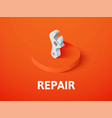 repair isometric icon isolated on color vector image