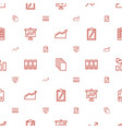 report icons pattern seamless white background vector image vector image