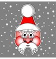 Santa Claus with ski cap and red cheeks vector image