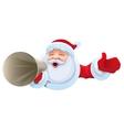 Santa shouts into megaphone Christmas sale vector image
