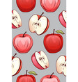 seamless texture of cartoon red apples of vector image vector image