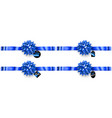 set of blue bows with horizontal ribbons and sale vector image vector image