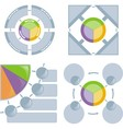 Set of chart flat vector | Price: 1 Credit (USD $1)