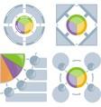 set of chart flat vector image