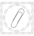 Set of Paper Clips vector image vector image