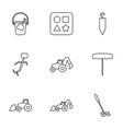 shovel icons vector image vector image