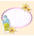 Skincare make-up bottle isolated card vector image vector image