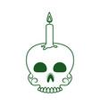 skull with candle cinco de mayo mexican vector image vector image