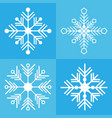 snowflake icon background set blue color vector image vector image