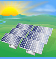 solar power energy vector image vector image