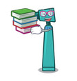 student with book otoscope mascot cartoon style vector image