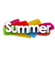 summer banner with brush strokes vector image