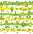 summer pattern with strieps green yellow vector image