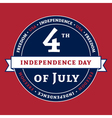 Symbol American 4th July holiday Independence Day vector image