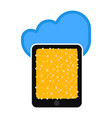 tablet with cloud technology vector image vector image