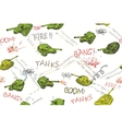 Tanks Pattern vector image